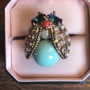 Juicy Couture Love Bug Bee Bling Pearl Enamel Ring